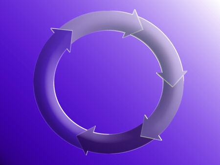 Business system graphic in purple blue background photo