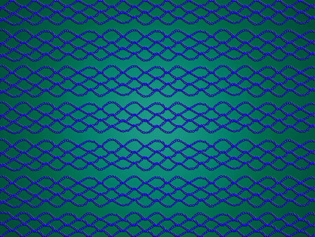 purls: Blue net on emerald green background for xmas