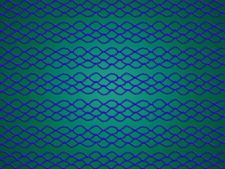 picot: Net blu su sfondo verde smeraldo per Natale