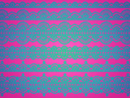 picot: Modello blu crochet su sfondo rosa