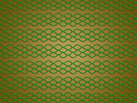 sophistication: Green texture on golden background for christmas