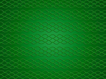picots: Green pattern on christmas background Stock Photo