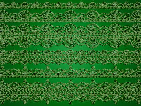 picot: Verde sofisticato elegante sfondo Natale