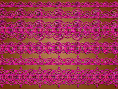 purls: Chocolate background with pink lingerie laces texture abstract christmas background