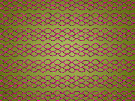 purls: Christmas background with pink crochet texture on light olive green