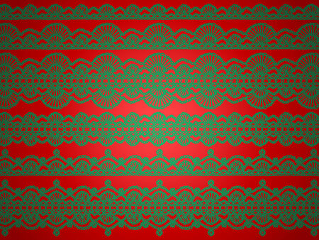 purls: Green and red lingerie laces christmas background