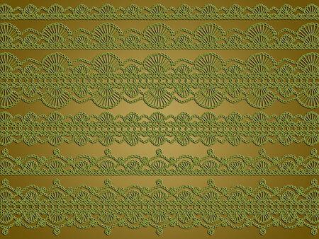 picot: Olive sfondo verde di Natale dei complessi pizzi all'uncinetto disegni d'epoca Archivio Fotografico