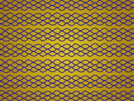 sofisticated: Blue crochet laces on gold christmas background
