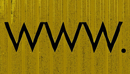 typographies: www  symbols in black over ochre background