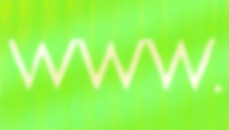 Blured www  white letters zigzag on abstract light green striped background