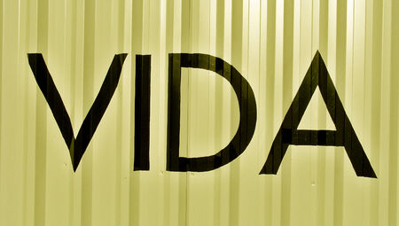 typographies: Life in spanish vida abstract background