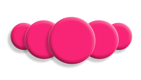 Pink balls perspective isolated on white photo