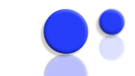sportive: Blue toy sportive balls couple isolated on white Stock Photo