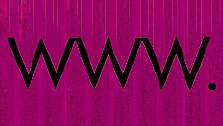 typographies: www on abstract purple background
