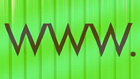 typographies: Www  abstract green background with internet domain letters