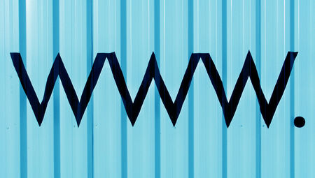 typographies: Www internet domain letters on blue abstract background