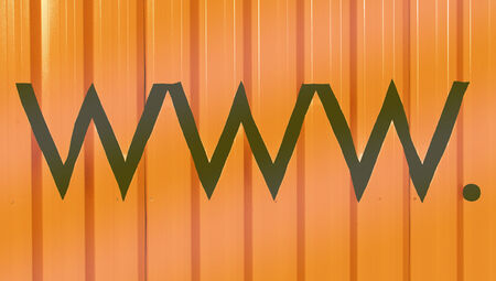 typographies: Www internet domains abstract striped orange background