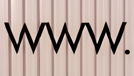 typographies: Www abstract internet beige striped background Stock Photo