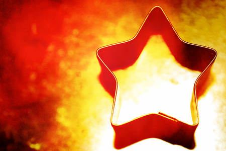 Gold star for Christmas background photo