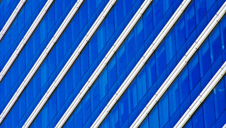 diagonals: Blue modern building striped abstract background