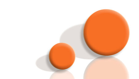 sportive: Couple of 3d sportive orange balls illustration Stock Photo