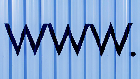typographies: www internet business blue abstract background Stock Photo