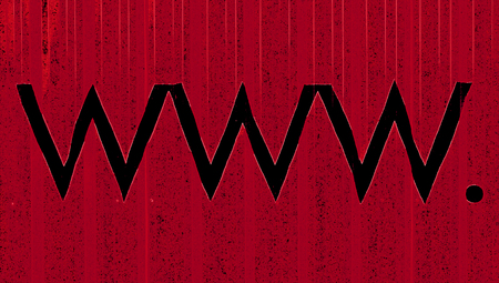 typographies: Red background with www  signs for hosting business background