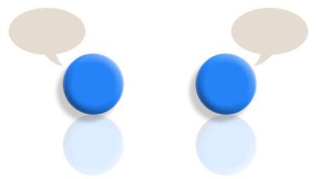 Two blue balls chat photo