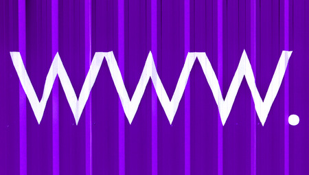 typographies: www  signs of purple striped hosting background