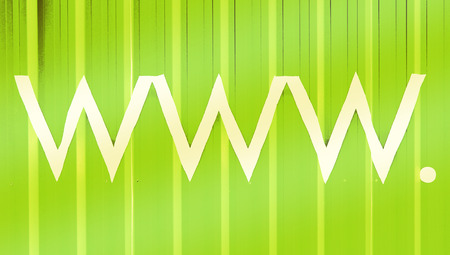 typographies: Www  green abstract background for hosting business