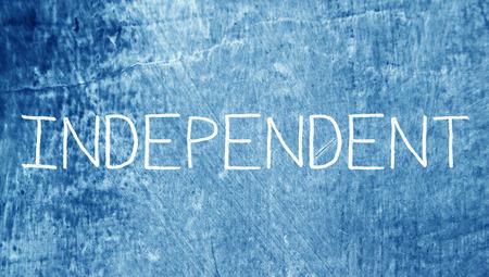 비즈니스 클래스 블루 칠판에 독립적 인 단어