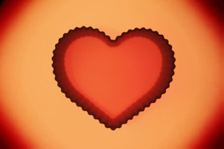 Sepia heart abstract background photo