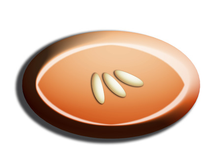 nutty: Rice seeds decoration on oval candy of nuts