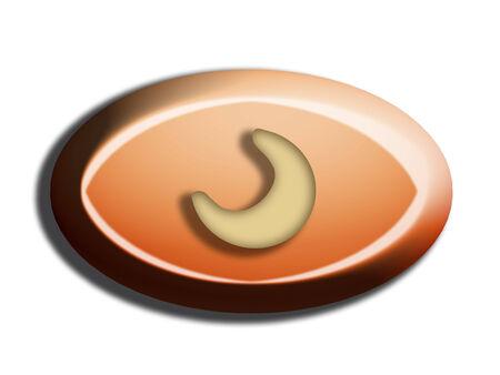 nutty: Cashew nut moon on top of chocolate bombon