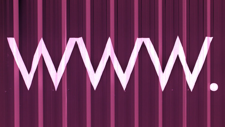 typographies: World wide web letters signs abstract purple background