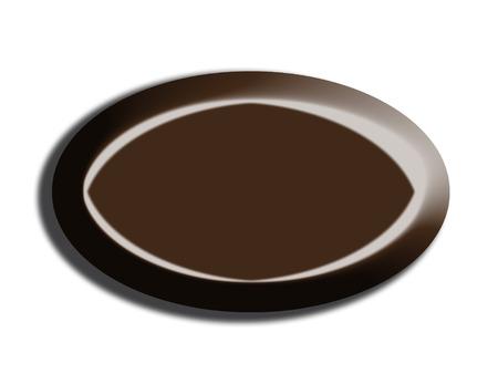 ova: Dark chocolate bonbon ova shape isolated on white