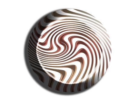 nutty: Striped bonbon chocolate 3d illustration on white