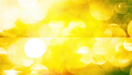 Blurred yellow bright lights abstract banners background photo