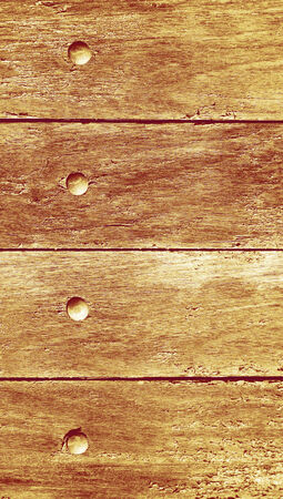 knothole: Wood planks vertical abstract background with nails