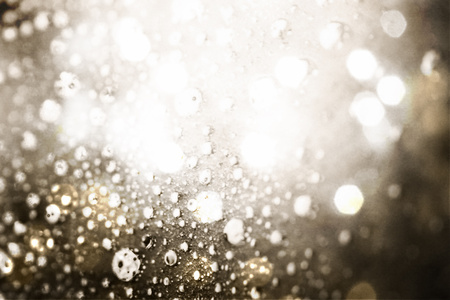 White lights and bubbles abstract background photo