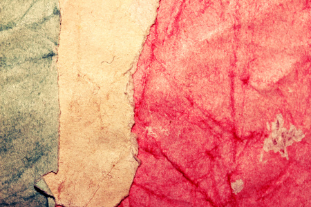 Paper grunge background of three colors like Italy flag photo