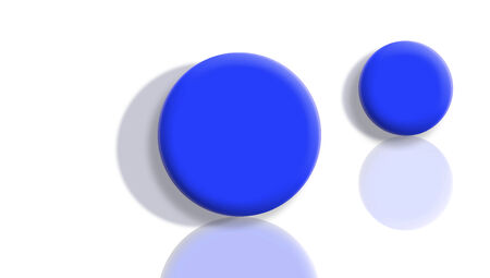 sportive: Blue sportive balls couple reflected on white background