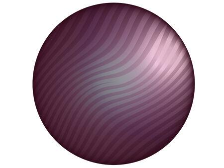 Purple elegant striped button circle isolated on white background photo