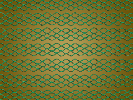weaved: Green crochet pattern of lines and rhombs for xmas abstract background