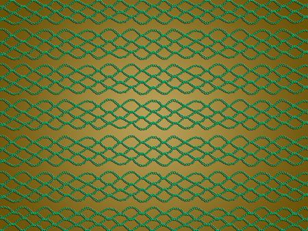 picot: Verde modello crochet di linee e rombi di Natale astratto