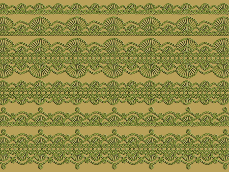 picot: Antique elegant crochet laces ornaments in abstract background Stock Photo