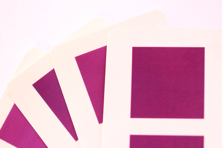 Purple squares cards or colors selector closeup Stock Photo