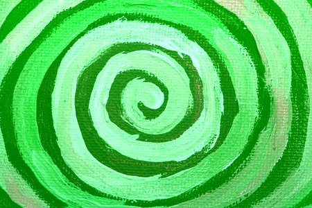 naif: Green paint spiral abstract background close up Stock Photo