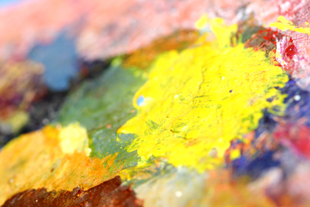 Multicolor paint palette colorful abstract art background photo