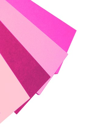 diagonals: Pink selector papers palette isolated on white background Stock Photo